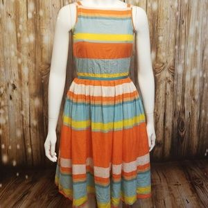 River Island striped cotton apron sun dress